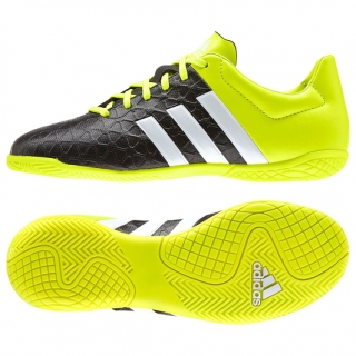 Adidas - Ace 15.4 Indoor Football Trainers – Black/Yellow